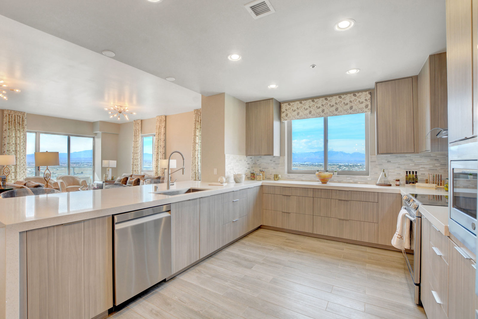 remodeled, open-concept luxury kitchen
