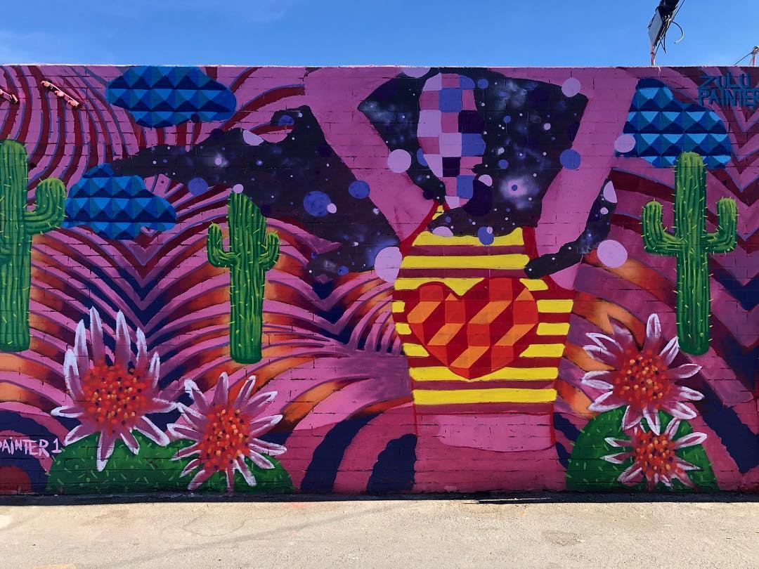 colorful street mural