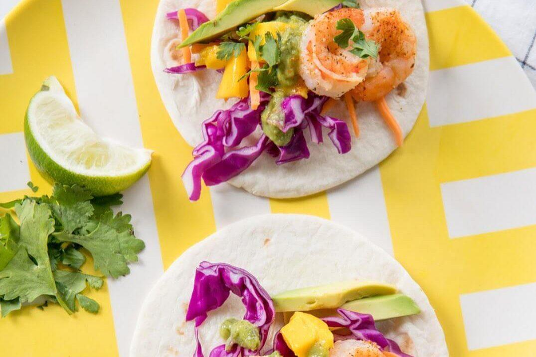 grilled shrimp tacos with slaw