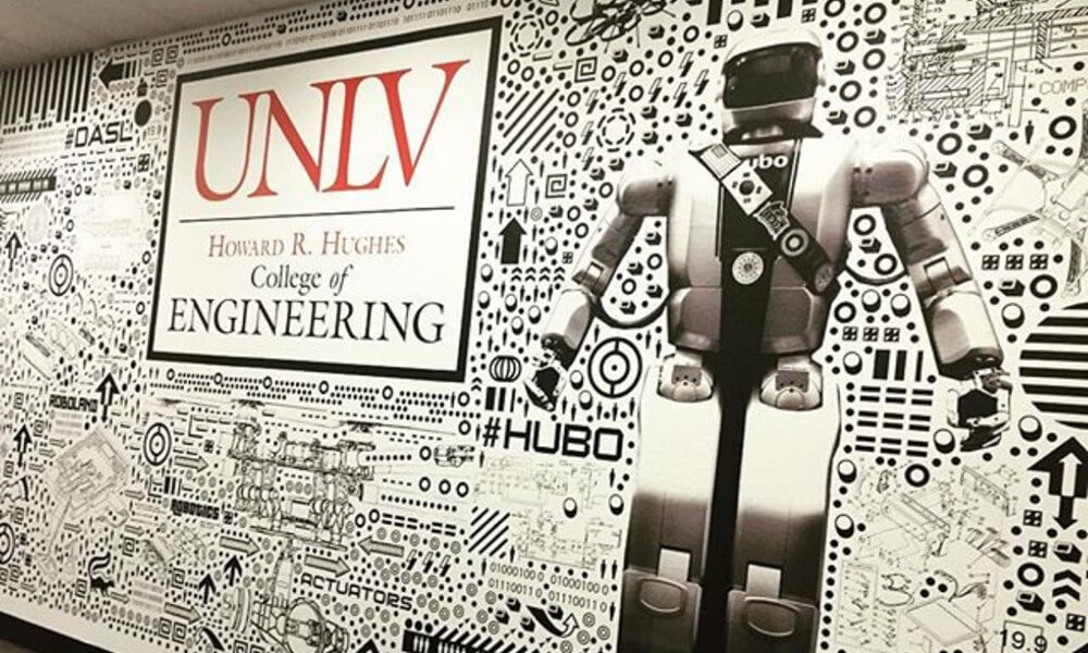 college engineering wall display